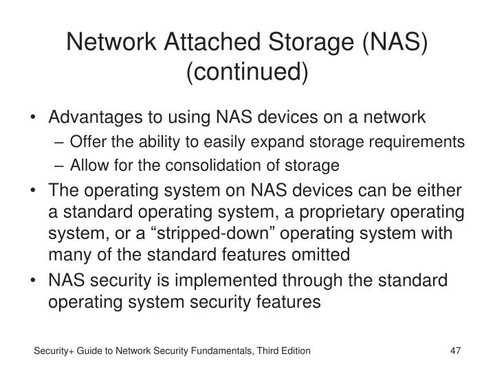 Network Attached Storage (NAS) (continued)