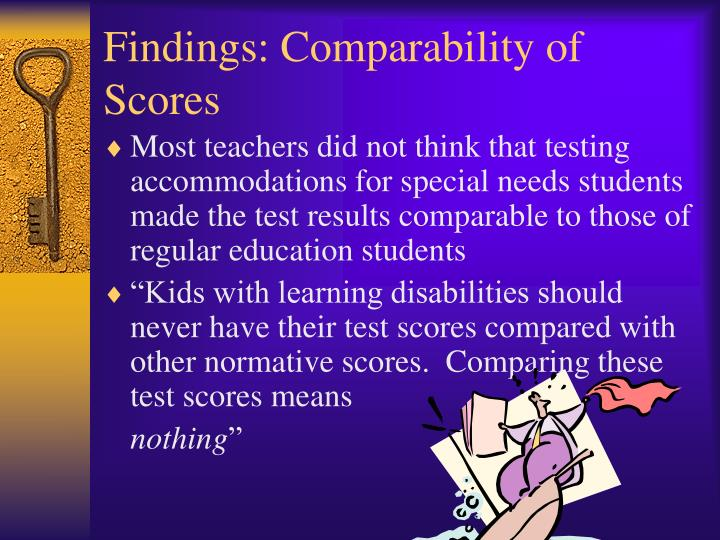 Findings: Comparability of Scores