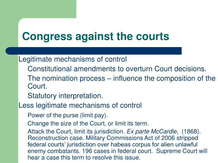 Congress against the courts