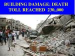 building damage death toll reached 230 000