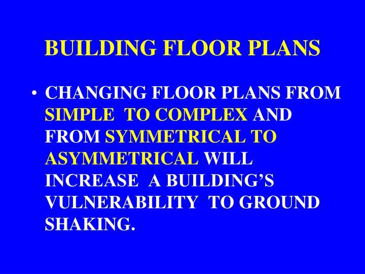 BUILDING FLOOR PLANS