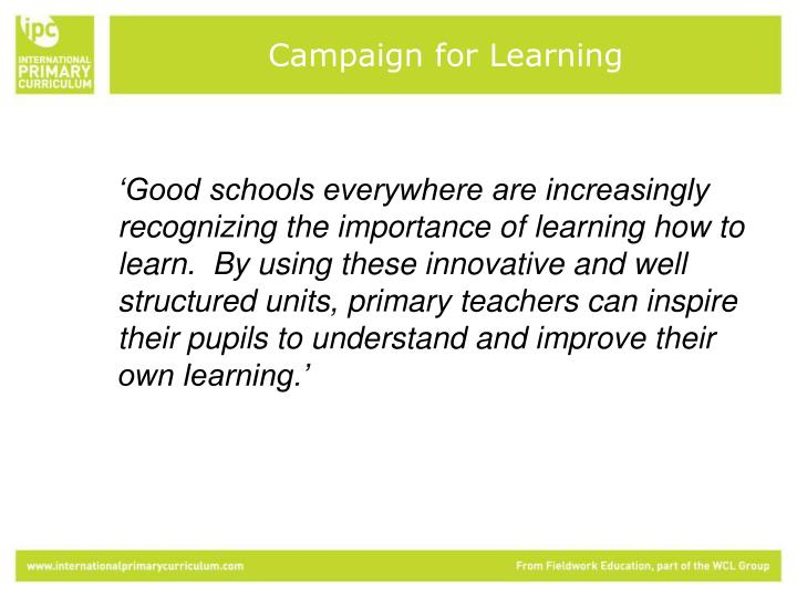 Campaign for Learning