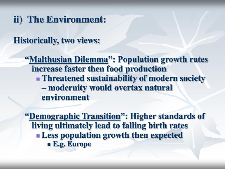 ii)  The Environment: