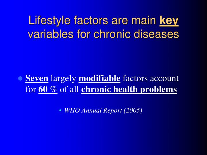 Lifestyle factors are main