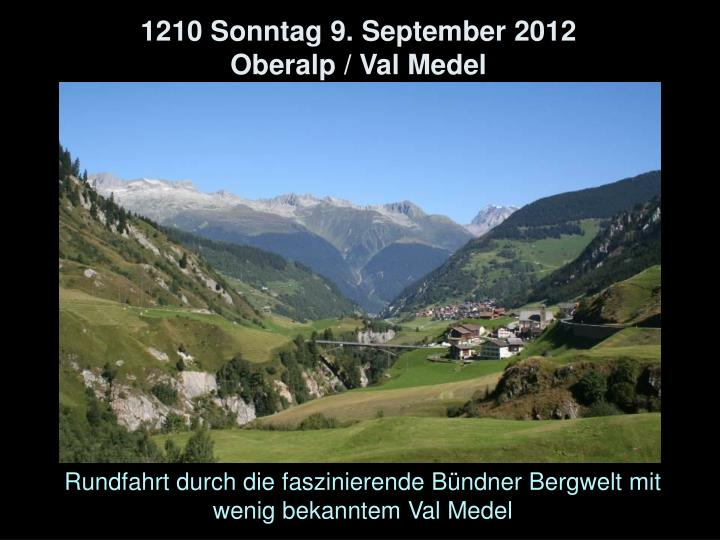 1210 Sonntag 9. September 2012