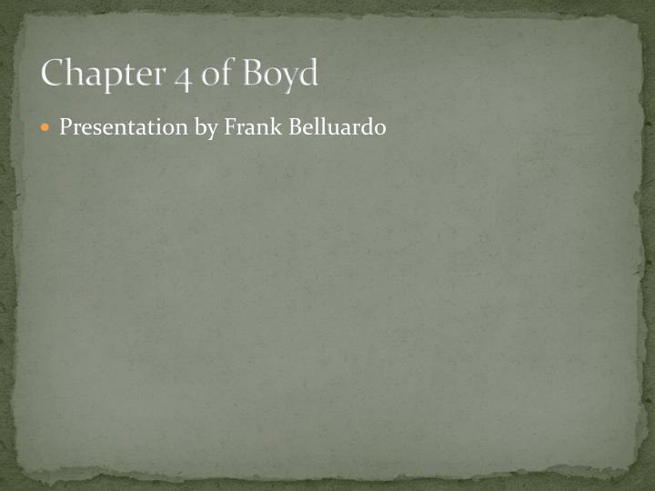 Chapter 4 of Boyd
