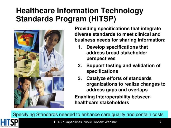 Healthcare Information Technology  Standards Program (HITSP)