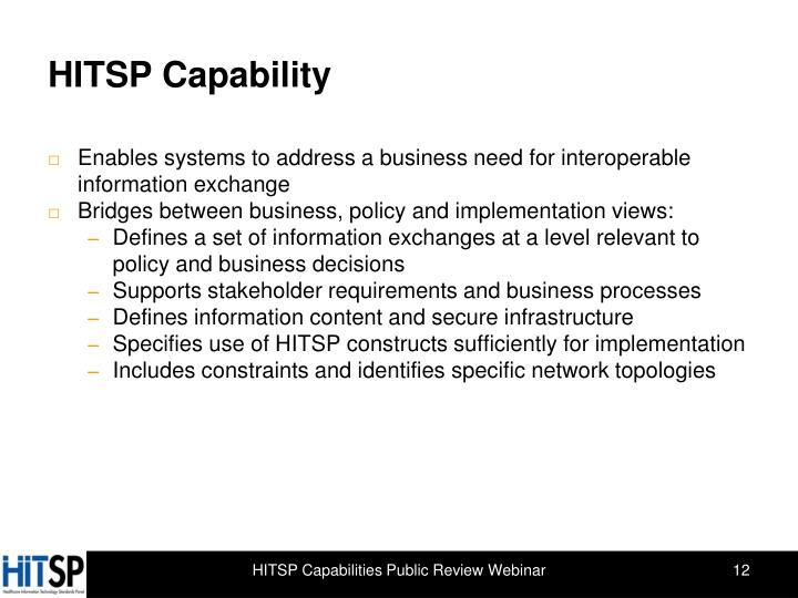 HITSP Capability