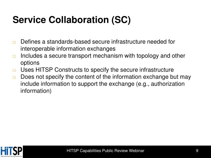 Service Collaboration (SC)