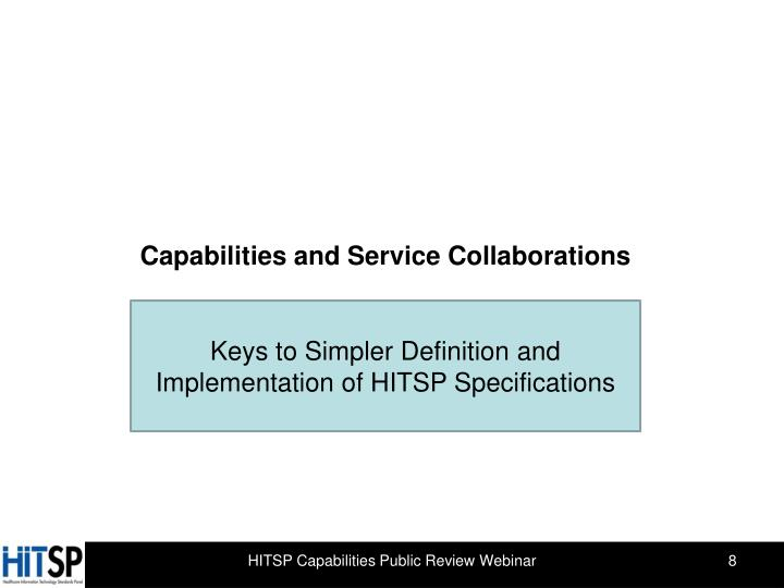 Capabilities and Service Collaborations