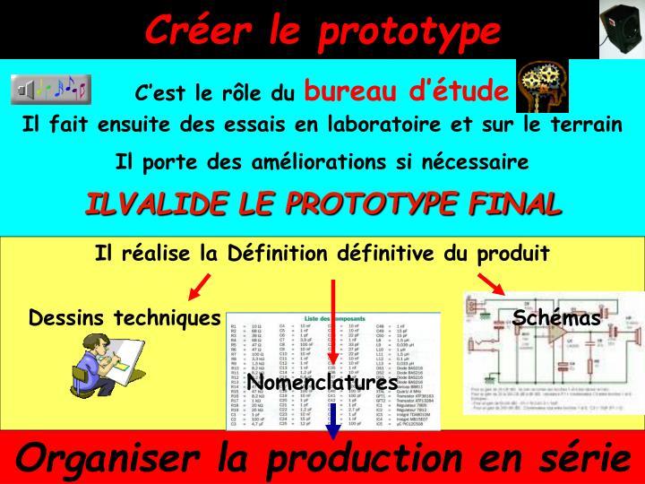 Créer le prototype
