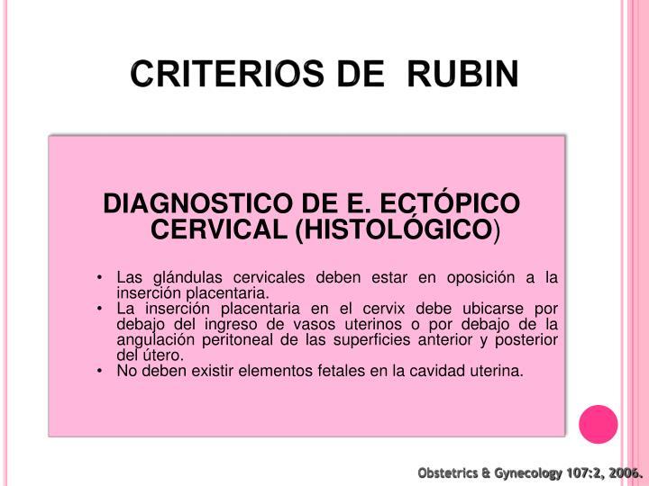 CRITERIOS DE  RUBIN