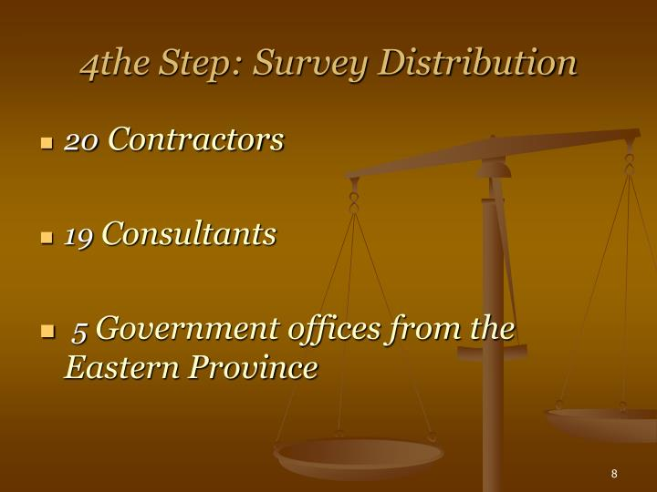 4the Step: Survey Distribution
