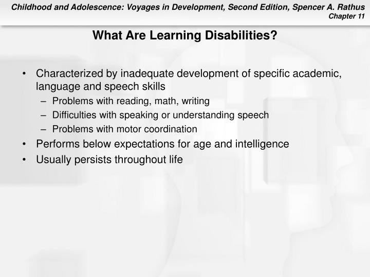 What Are Learning Disabilities?