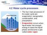 4 2 water cycle processes