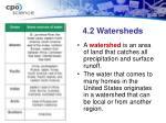 4 2 watersheds
