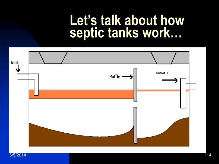 Let's talk about how septic tanks work…