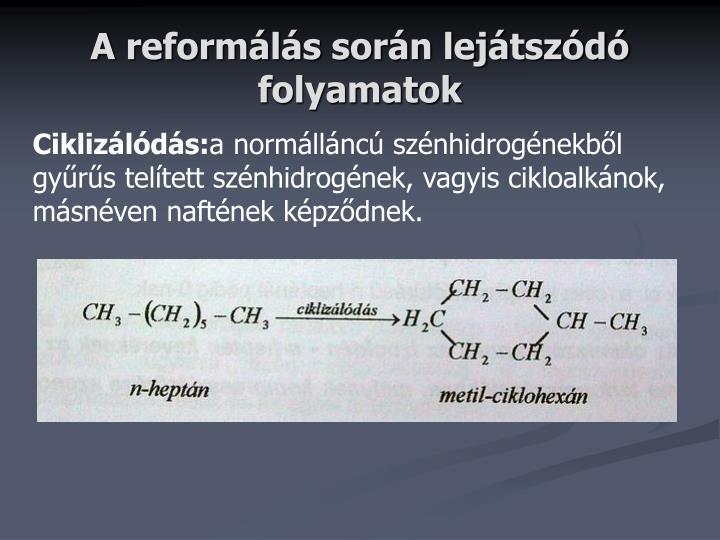 A reformálás során lejátszódó folyamatok