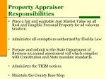 property appraiser responsibilities