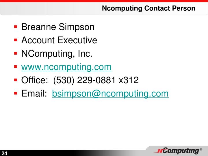 Ncomputing Contact Person