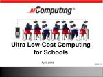 ultra low cost computing for schools