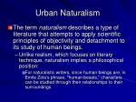 urban naturalism