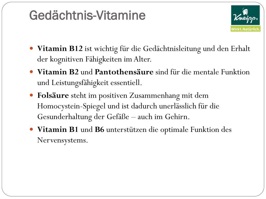 Gedächtnis-Vitamine