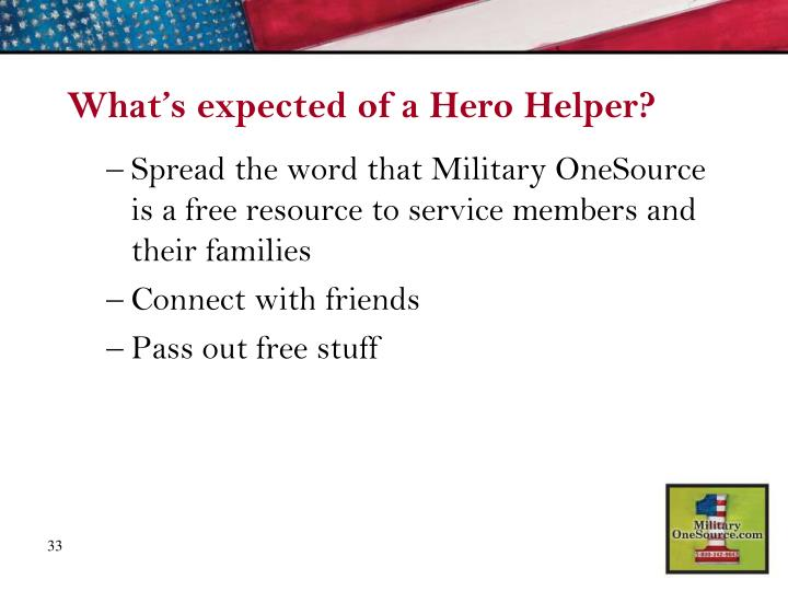 What's expected of a Hero Helper?