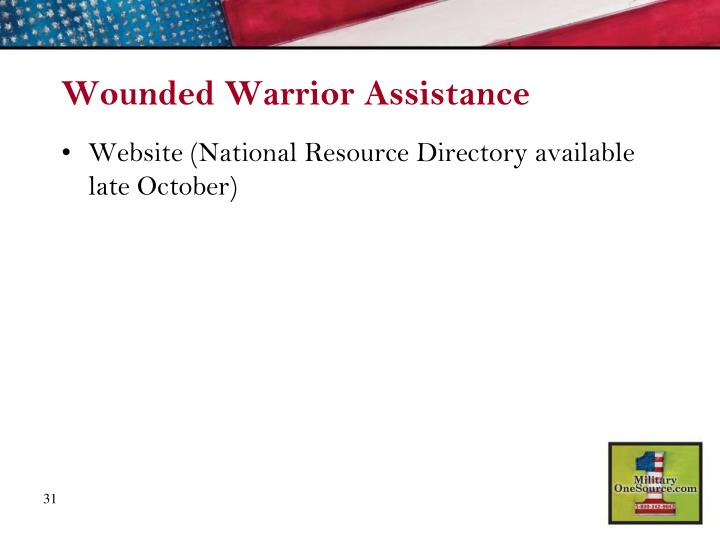 Wounded Warrior Assistance