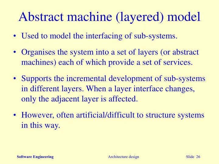 Abstract machine (layered) model