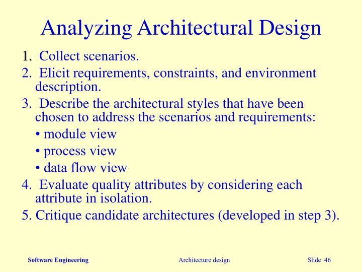 Analyzing Architectural Design