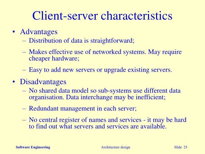 Client-server characteristics