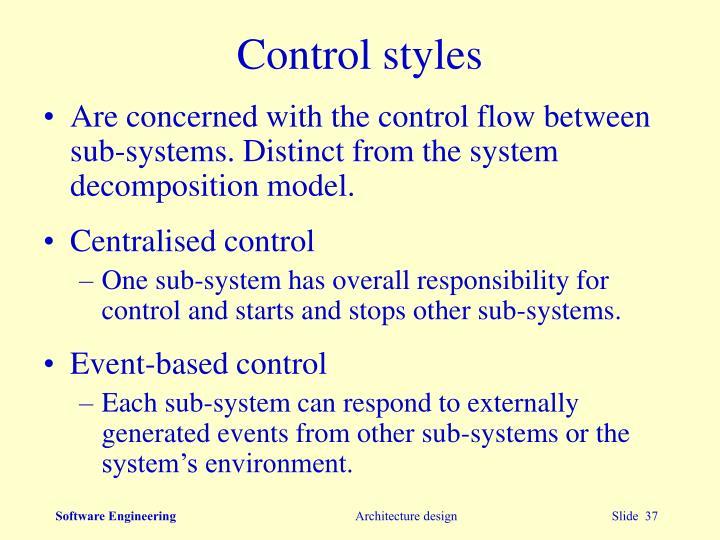Control styles