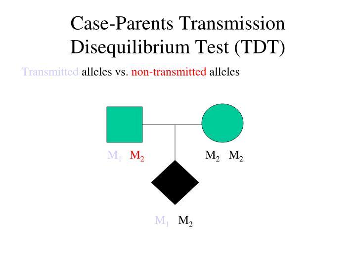 Case-Parents Transmission Disequilibrium Test (TDT)
