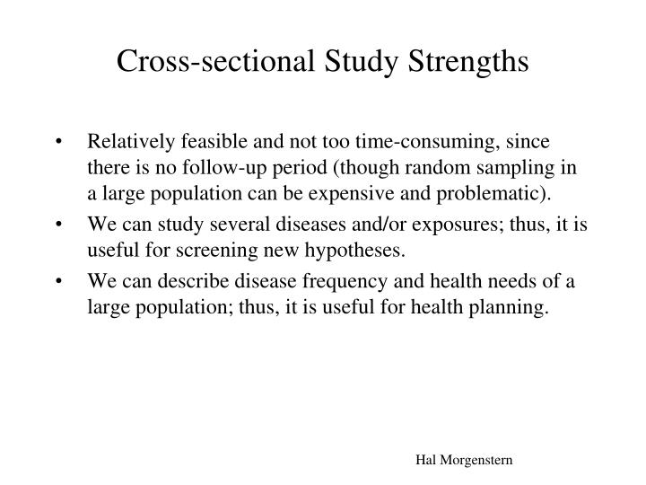 Cross-sectional Study Strengths