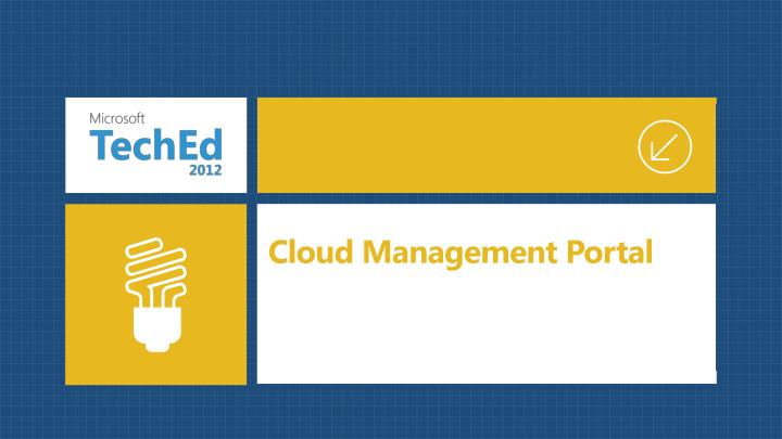 Cloud Management Portal