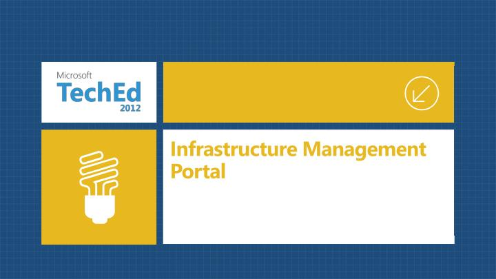 Infrastructure Management Portal
