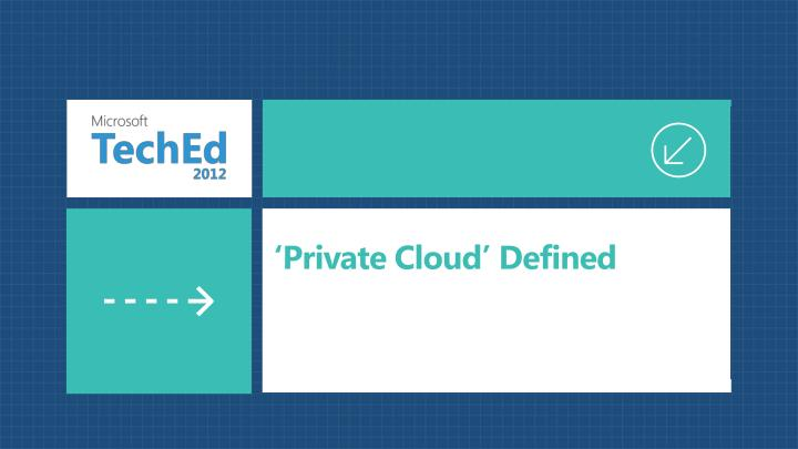 Private cloud defined
