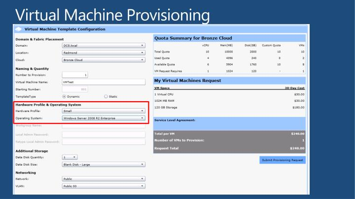 Virtual Machine Provisioning