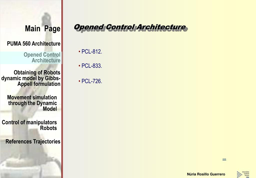Opened Control Architecture