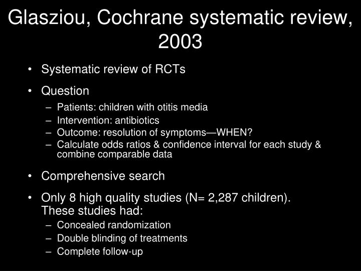 Glasziou, Cochrane systematic review, 2003