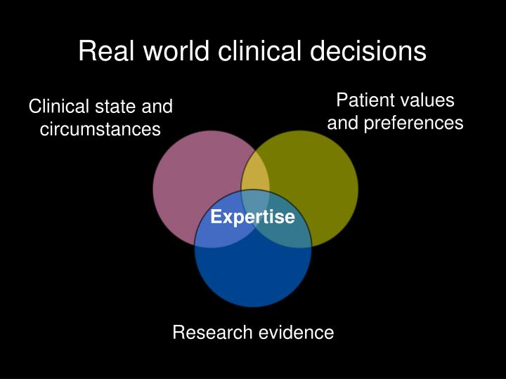 Real world clinical decisions
