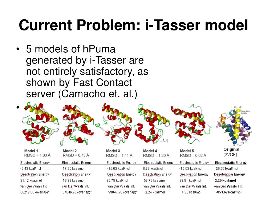Current Problem: i-Tasser model