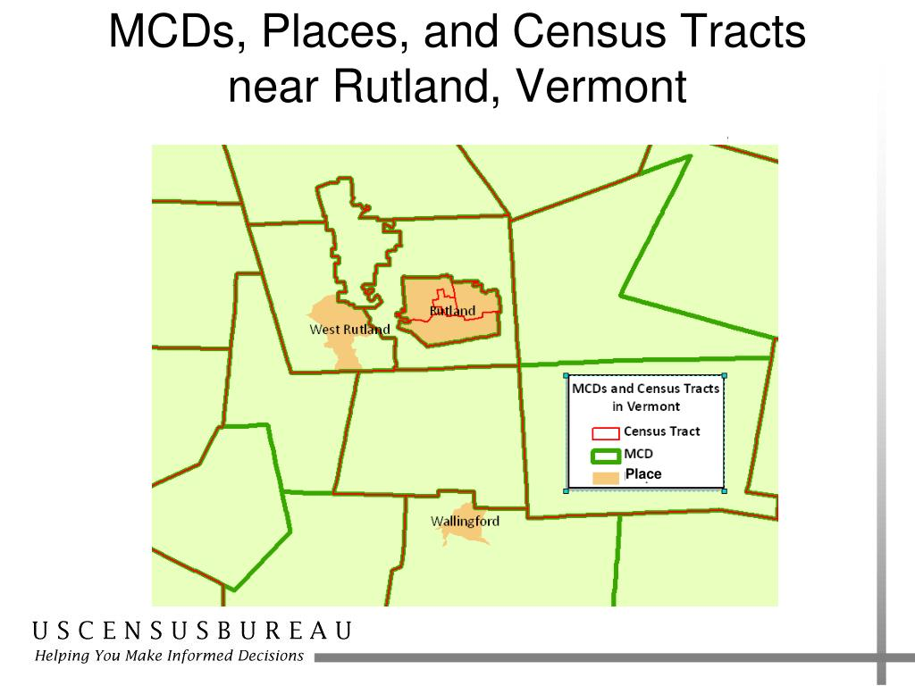 MCDs, Places, and Census Tracts