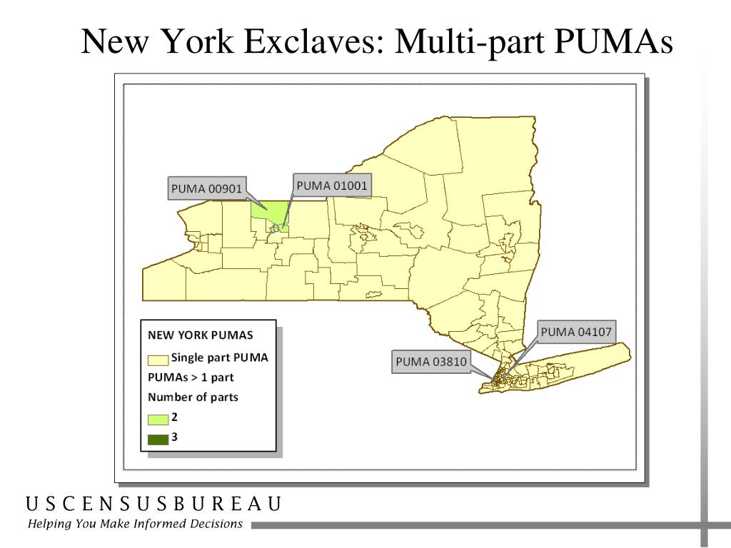 New York Exclaves: Multi-part PUMAs