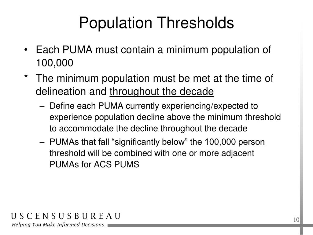 Population Thresholds