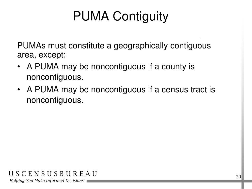 PUMA Contiguity