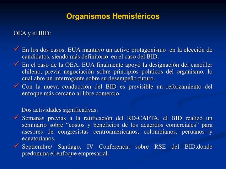 Organismos Hemisfricos