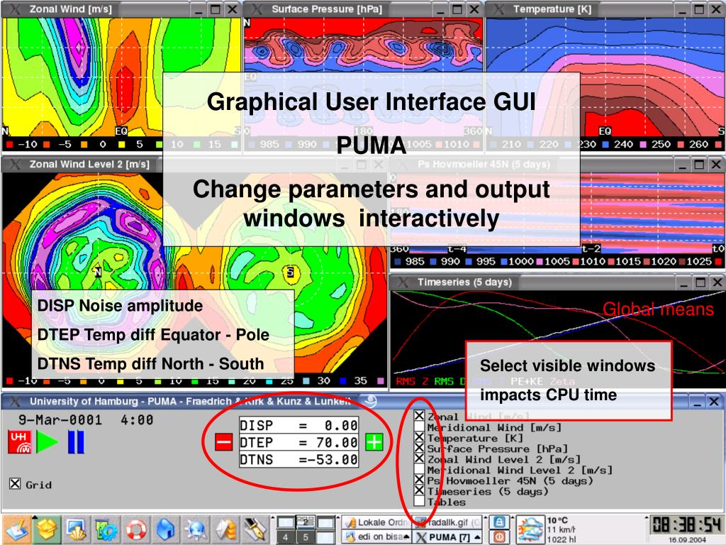 Model starter Most, Graphical user interface