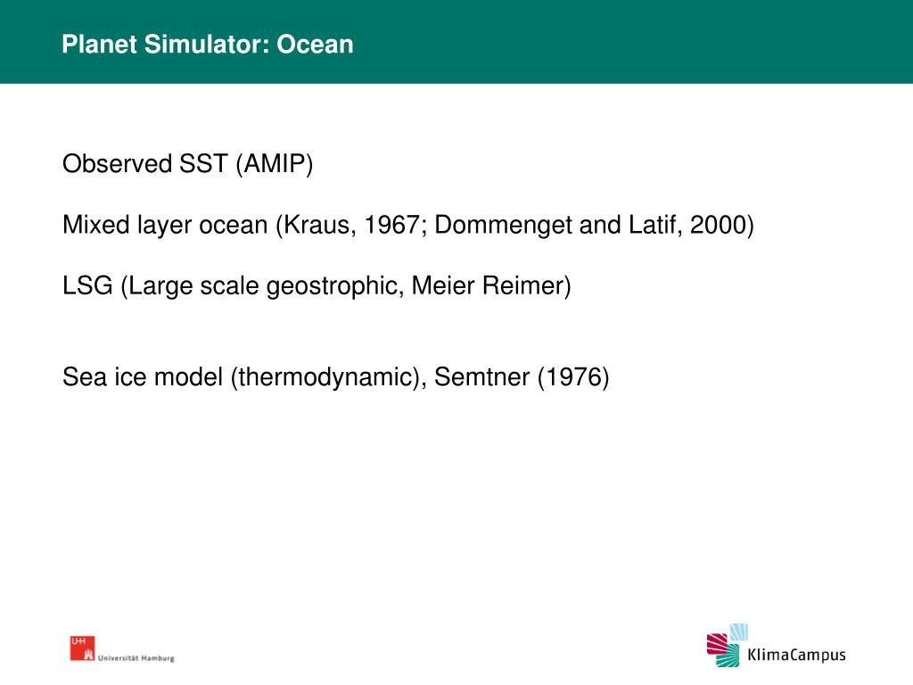 Planet Simulator: Ocean